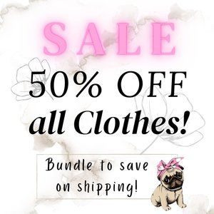 50% all clothes in closet!
